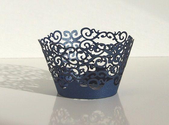 Košíček na muffin, cup cake - půlnoční modř - 12ks