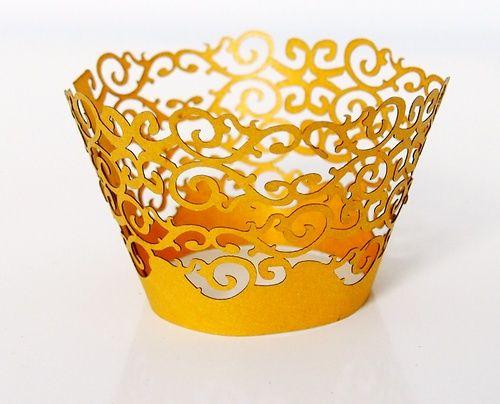 Košíček na muffin, cup cake - žlutá A - 12ks