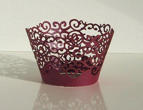 Košíček na muffin, cup cake - purpurová - 12ks