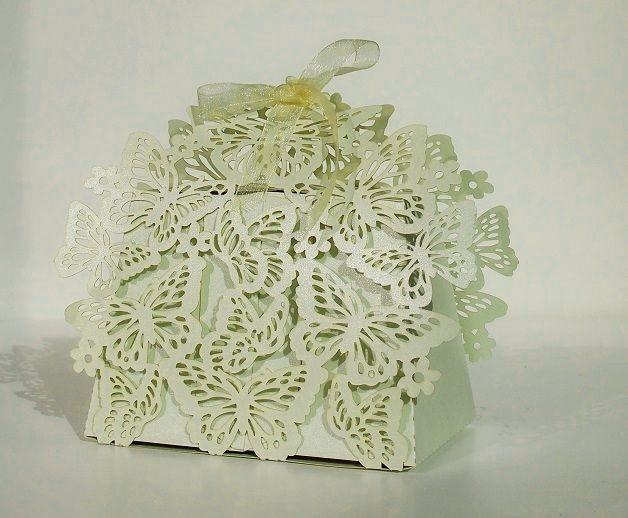 Krabička na výslužku, dekor motýl, světle zelená