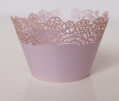 Košíček na muffin, cup cake - světlounká lila - 12ks