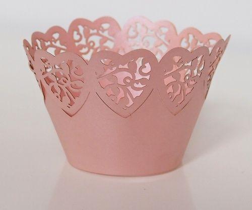Košíček na muffin, cup cake - růžová - 12ks