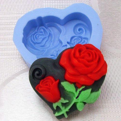 Silikonová formička - růže