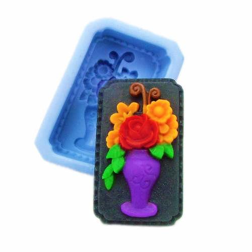 Silikonová formička - váza s květinami